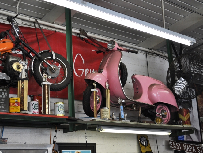 Vintage scooters and retro chic at Sorento Imports on The Tufted