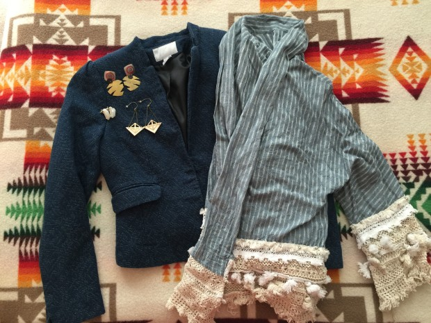 """Adventures in Thrifting: Earrings & Patterns for Days on """"The Tufted"""" Blog"""