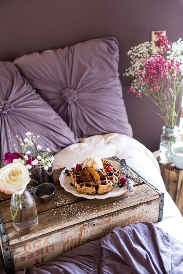 Whole-Wheat-Belgium-Chocolate-Chip-Waffles-with-Coconut-Caramelized-Bananas-1